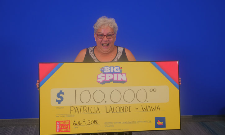 {WAWA RESIDENT SPINS HER WAY TO $100,000 WITH THE BIG SPIN INSTANT GAME}